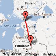 Siauliai (Siauliai International, SQQ) - Tallinn (Ulemiste, TLL)