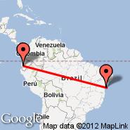 Salvador/Bahia (Luis Eduardo Magalhaes, SSA) - Guayaquil (Simon Bolivar, GYE)