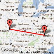 St Louis (Lambert-St. Louis International, STL) - Roanoke (Roanoke Regional Airport, ROA)
