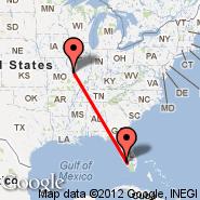 St Louis (Lambert-St. Louis International, STL) - Fort Myers (Southwest Florida Reg, RSW)