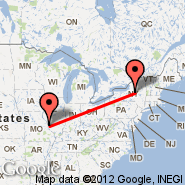 St Louis (Lambert-St. Louis International, STL) - Utica/Rome (Oneida County, UCA)