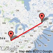 St Louis (Lambert-St. Louis International, STL) - Quebec (Québec, YQB)