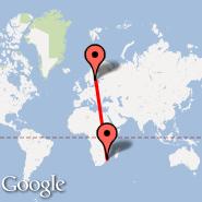 Stockholm (Metropolitan Area, STO) - Maputo (Maputo International, MPM)