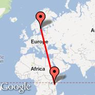 Stoccolma (Metropolitan Area, STO) - Nairobi (Jomo Kenyatta International, NBO)