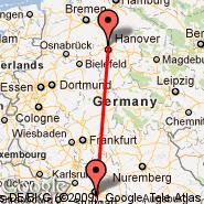Stuttgart (Stuttgart Echterdingen, STR) - Hannover (Hanover Arpt, HAJ)