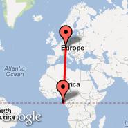 Stuttgart (Stuttgart Echterdingen, STR) - Sao Tome (Sao Tome Is, TMS)