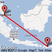 Sumbawa (Brang Bidji, SWQ) - Singapur (Changi, SIN)