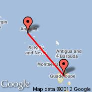 Saint Maarten (Princess Juliana International, SXM) - Pointe-a-Pitre (Le Raizet, PTP)