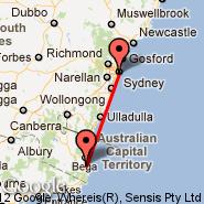 Sydney (Kingsford Smith, SYD) - Merimbula (MIM)
