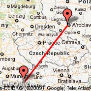 Salzburg (W. A. Mozart, SZG) - Wroclaw (Copernicus Airport, WRO)