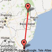 Skukuza (SZK) - Durban (Durban International, DUR)