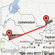 Taškent (Yuzhny, TAS) - Ashgabat (ASB)