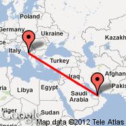 Podgorica (Golubovci, TGD) - Abu Dhabi (Abu Dhabi International, AUH)