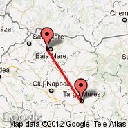 Tirgu Mures (Transilvania, TGM) - Baia Mare (Tautii Magheraus, BAY)