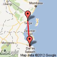 Tanga (TGT) - Dar-es-Salaam (International, DAR)