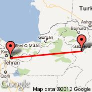 Teheran (Mehrabad/ghaleh Morghi, THR) - Sabzevar (AFZ)
