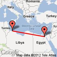 Tripoli (International, TIP) - Kairo (Cairo International, CAI)