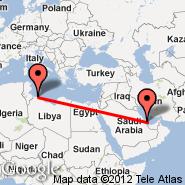 Tripoli (International, TIP) - Doha (Doha International Airport, DOH)