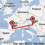Toulouse (Blagnac, TLS) - Zagreb (Pleso, ZAG)