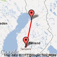Tampere (Tampere-pirkkala, TMP) - Oulu (OUL)