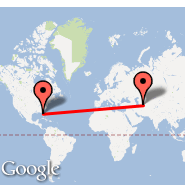 Tampa (Tampa International, TPA) - Ashgabat (ASB)