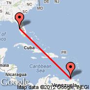 Tampa (Tampa International, TPA) - Isla Margarita (Del Caribe International, PMV)