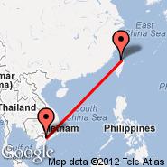 Taipei (Taiwan Taoyuan International, TPE) - Hošiminh (Tan Son Nhat International, SGN)