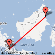 Tarakan (Juwata, TRK) - Jakarta (Soekarno-hatta Intl, JKT)