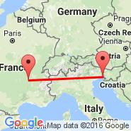Trieste (Ronchi Dei Legionari, TRS) - Saint-Etienne (Boutheon, EBU)