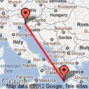 Trieste (Ronchi Dei Legionari, TRS) - Cefalonia (Kefalonia Istland International Airport, EFL)