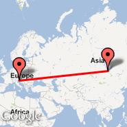 Trst (Ronchi Dei Legionari, TRS) - Irkutsk (IKT)
