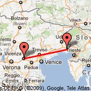Trst (Ronchi Dei Legionari, TRS) - Vicenza (Trissino, VIC)
