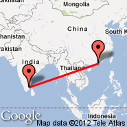 Tiruchirapalli (Civil, TRZ) - Hong Kong (Hong Kong International, HKG)