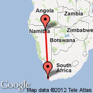 Tsumeb (TSB) - Cape Town (Cape Town International, CPT)