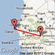 Tambacounda (TUD) - Dakar (Dakar-Yoff-Léopold Sédar Senghor International, DKR)
