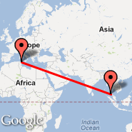 Tunis (Carthage, TUN) - Phuket (Phuket International, HKT)