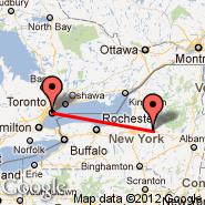 Utica/Rome (Oneida County, UCA) - Toronto (Toronto Pearson International, YTO)