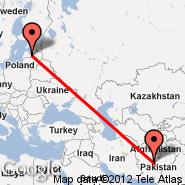 Quetta (UET) - Riga (Riga International, RIX)