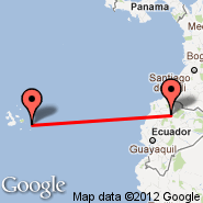 Quito (Mariscal Sucre, UIO) - Puerto Baquerizo Moreno/San Cristobal Island (San Cristobal, SCY)