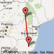 Ulundi (Prince Mangosuthu Buthelezi, ULD) - Hoedspruit (Hoedspruit Airport, HDS)