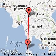 Ranong (UNN) - Chiang Mai (Chiang Mai International, CNX)