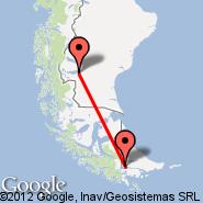 Ushuaia (Islas Malvinas, USH) - El Calafate (Comandante Armando Tola International Airport, FTE)