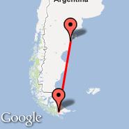 Ushuaia (Islas Malvinas, USH) - Trelew (Almirante Zar, REL)