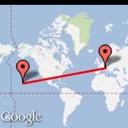 Venecija (Marco Polo, VCE) - Hilo/Big Island (Hilo International, ITO)