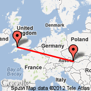 Beč (Schwechat International, VIE) - Cardiff (Cardiff International Airport, CWL)