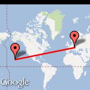 Vienna (Schwechat International, VIE) - Hawaii (HI)