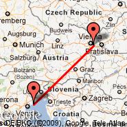 Vienna (Schwechat International, VIE) - Lido di Jesolo (Jesolo, JLO)