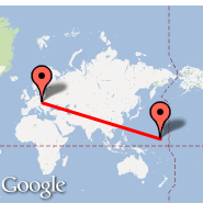 Beč (Schwechat International, VIE) - Kwajalein (Bucholz AAF (Kwajalein Kmr) (Atol), KWA)