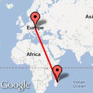 Vienna (Schwechat International, VIE) - Antananarivo (Ivato International Airport, TNR)