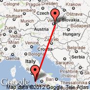 Dunaj (Schwechat International, VIE) - Ponza (Harbour, ZJY)